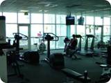 Oceanfront fitness center with state of the art equipment