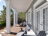 Four Porches on this house all boasting comfy seating to enjoy a cold beverage or morning coffee